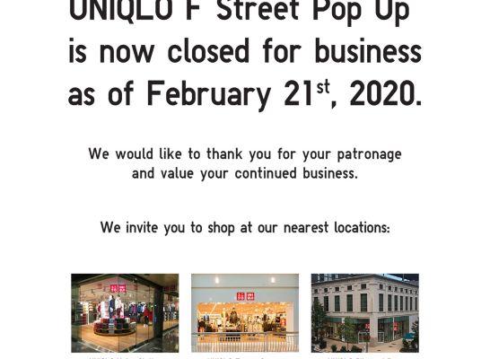 UNIQLO · Washington DC - F Street Pop Up
