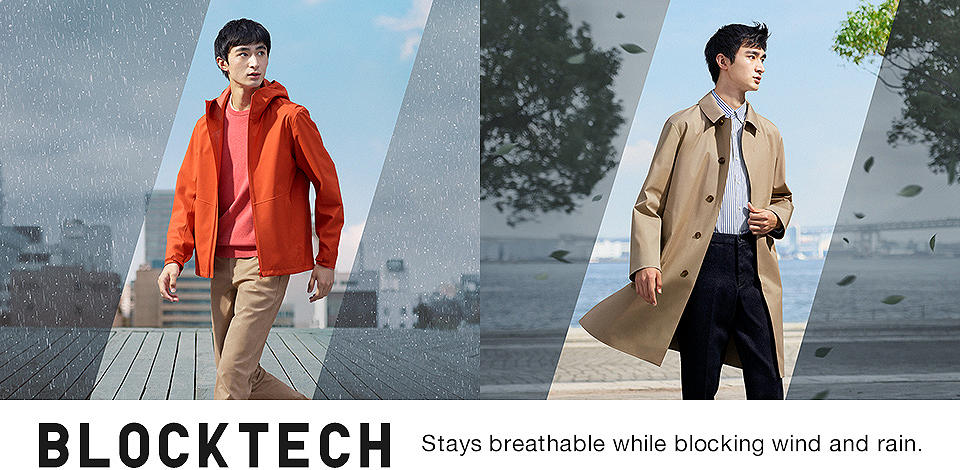 BLOCKTECH Stays breathable while blocking wind and rain.