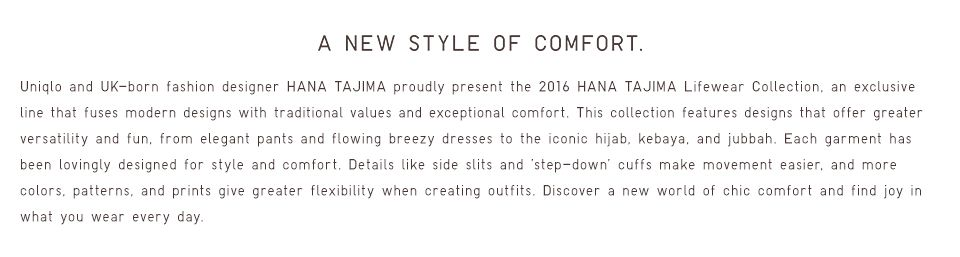 A NEW STYLE OF COMFORT