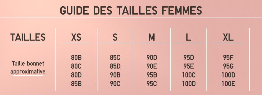 GUIDE DES TAILLES FEMMES