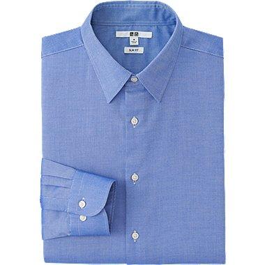 HERREN Oxford Stretch Slim Fit Hemd Langärmlig