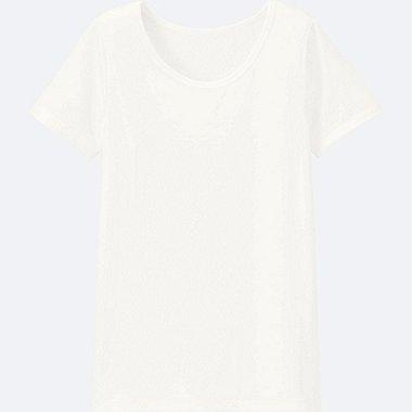 KINDER AIRism T-Shirt U-Ausschnitt
