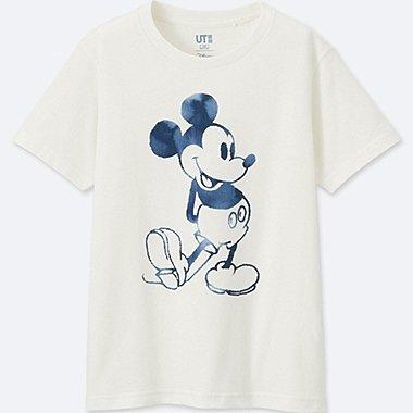 KINDER T-Shirt Bedruckt MICKEY BLUE