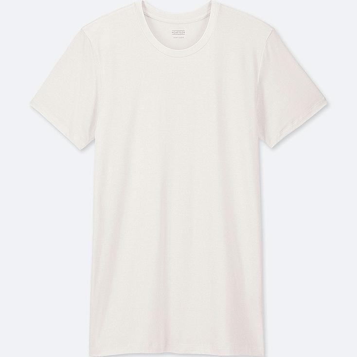 9feba058 MEN HEATTECH CREW NECK SHORT-SLEEVE T-SHIRT, WHITE, large