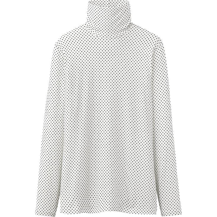 WOMEN HEATTECH TURTLE NECK T(DOT)(LONG SLEEVE)