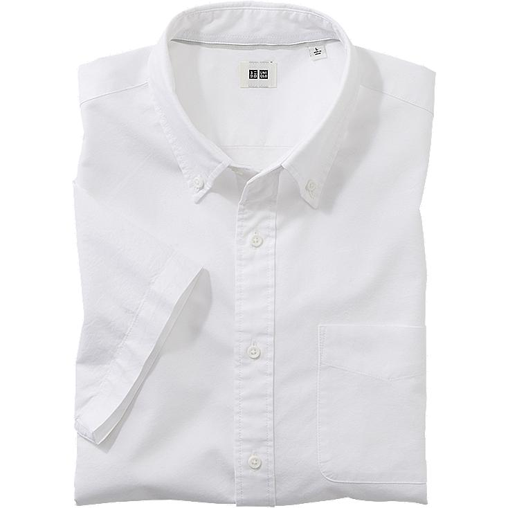 MEN OXFORD SLIM FIT SHORT SLEEVE SHIRT