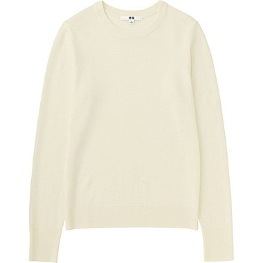 Women Extra Fine Merino Crewneck Sweater Uniqlo Us