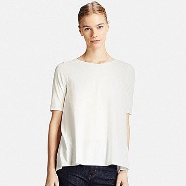 Tshirt Long Coton Modal Manches Courtes FEMME