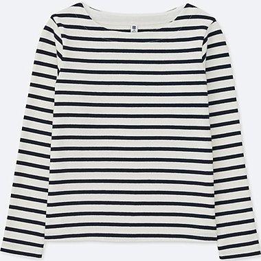 T-Shirt Rayé col Bateau Manches Longues FILLE
