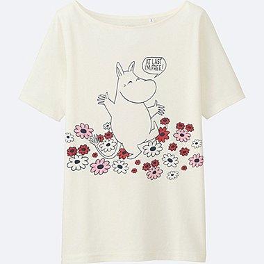 DAMEN T-Shirt bedruckt Moomin