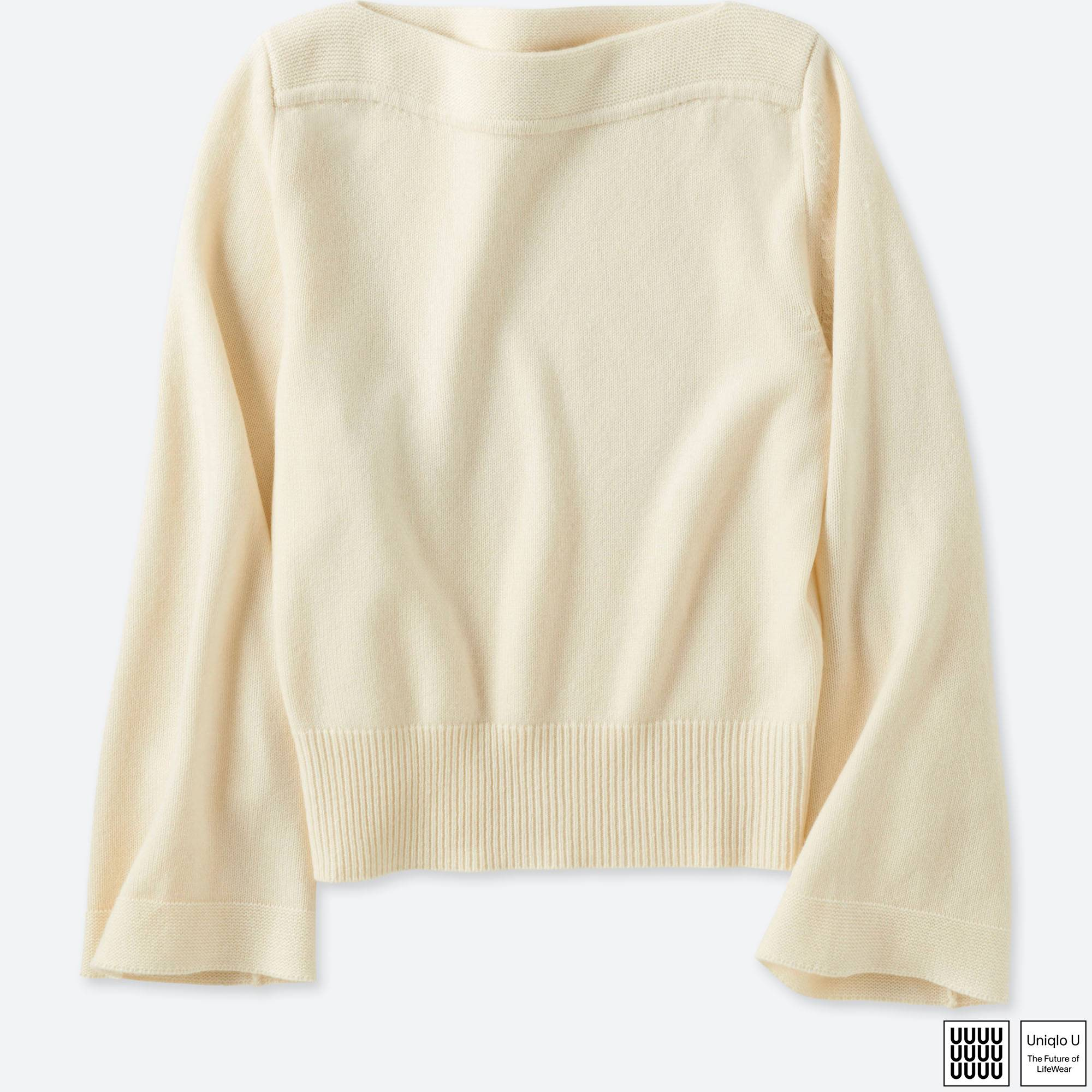 WOMEN U CASHMERE BLEND BOAT NECK SWEATER | UNIQLO US