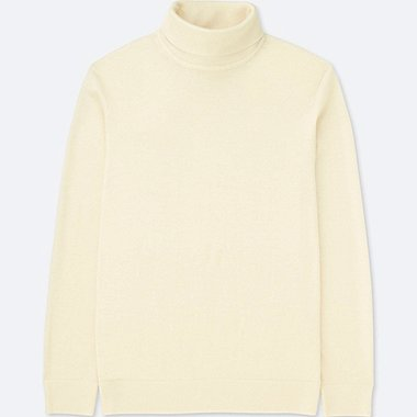 Men Extra Fine Merino Turtleneck Long Sleeve Sweater Uniqlo Us