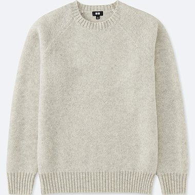 Men Boiled Wool Crewneck Sweater Uniqlo Us