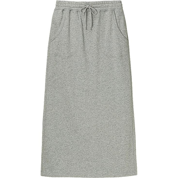 WOMEN SWEAT MAXI SKIRT