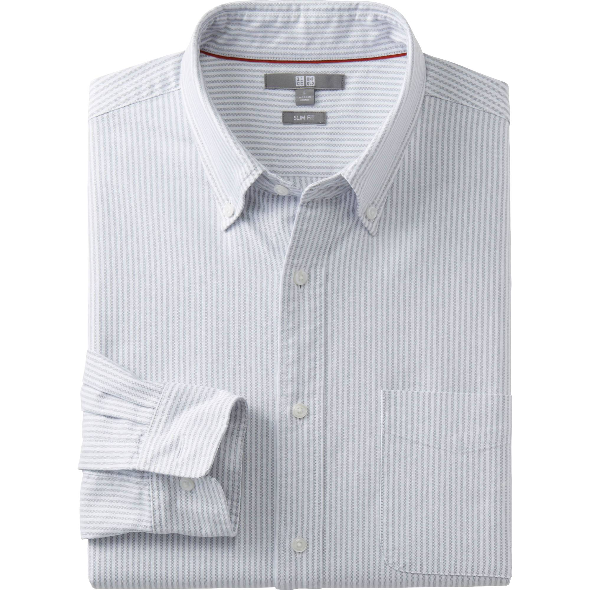 Белая рубашка в тонкую полоску