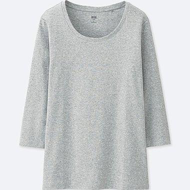 T-Shirt En Coton Supima Manches 3/4 FEMME