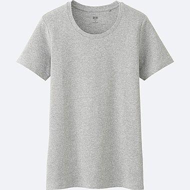 T-Shirt Coton Supima Col Rond Manches Courtes FEMME