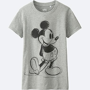 DAMEN T-Shirt Bedruckt Disney Kollektion