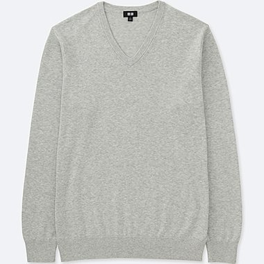 men washable v-neck sweater
