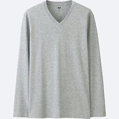 HERREN Supima Cotton Langarmshirt V-Ausschnitt