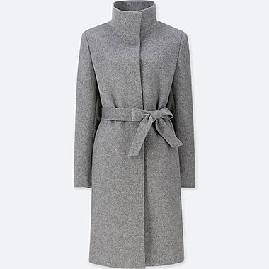 women cashmere blended stand collar coat uniqlo us