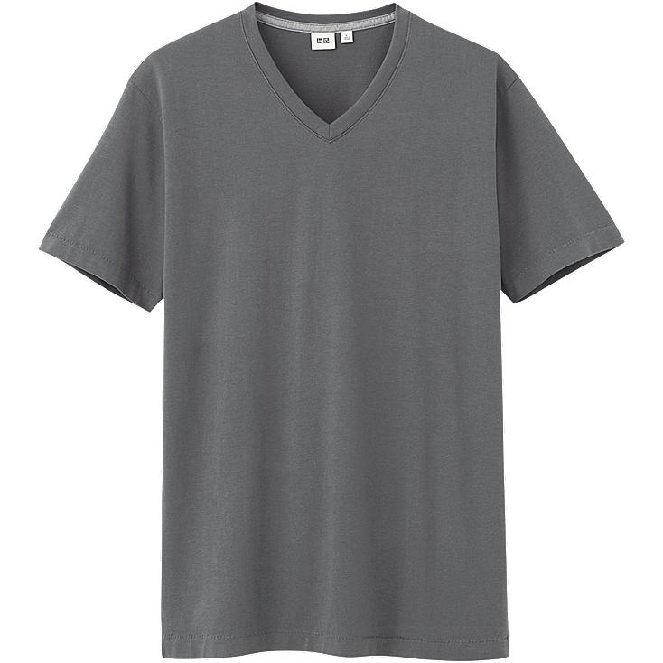 MEN PREMIUM COTTON V NECK SHORT SLEEVE T-SHIRT
