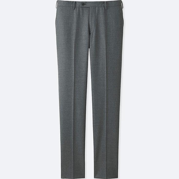 Pantalon En Laine Stretch Slim Fit HOMME