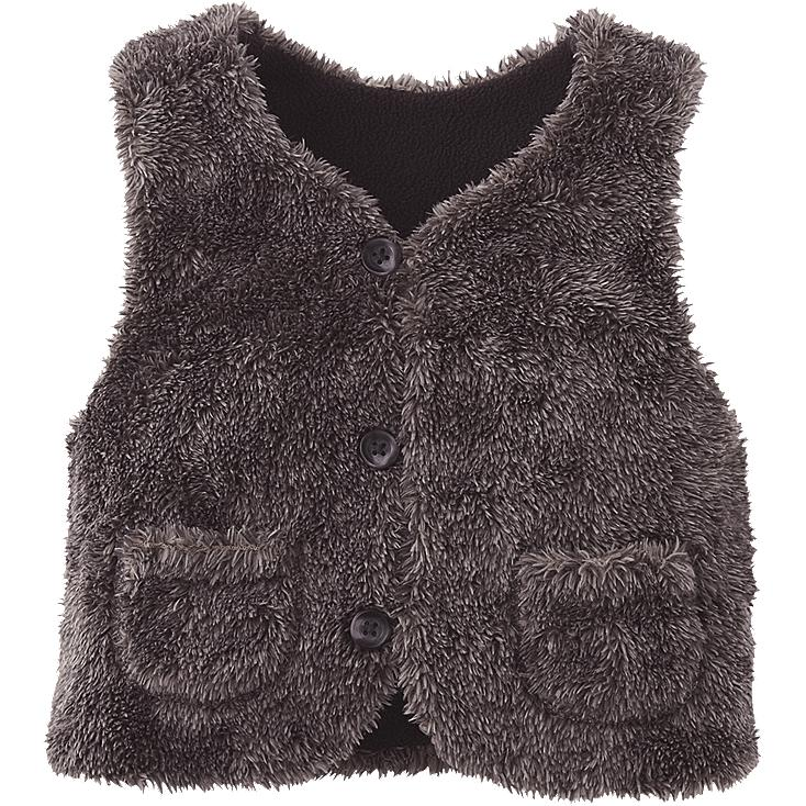 TODDLER FAUX SHEARING VEST