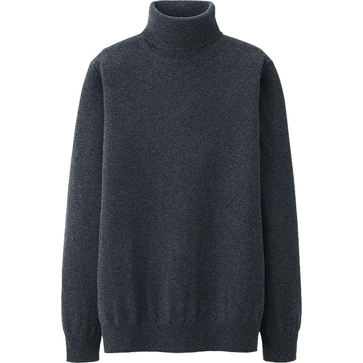 MEN CASHMERE TURTLE NECK SWEATER