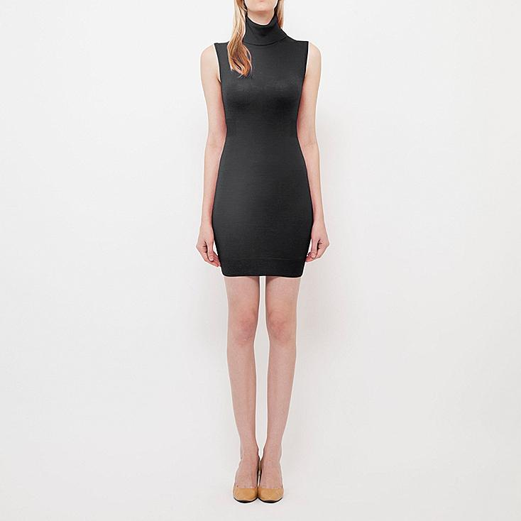 WOMEN EXTRA FINE MERINO TURTLE NECK DRESS