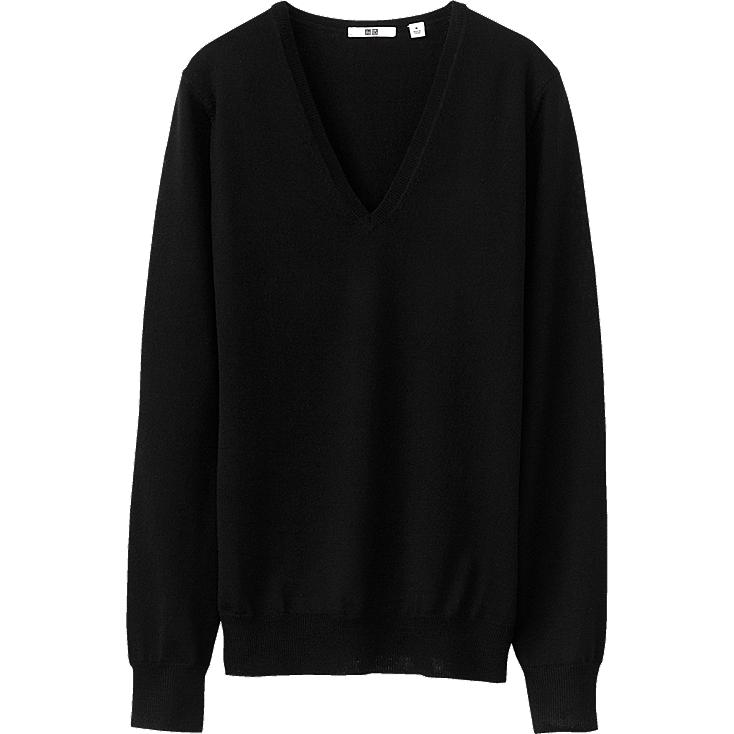 WOMEN EFM V NECK SWEATER (LONG SLEEVE)