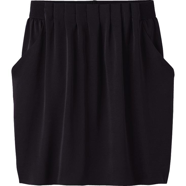 WOMEN SATIN MINI SKIRT