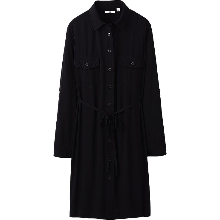 WOMEN MILITARY LONG SLEEVE DRESS