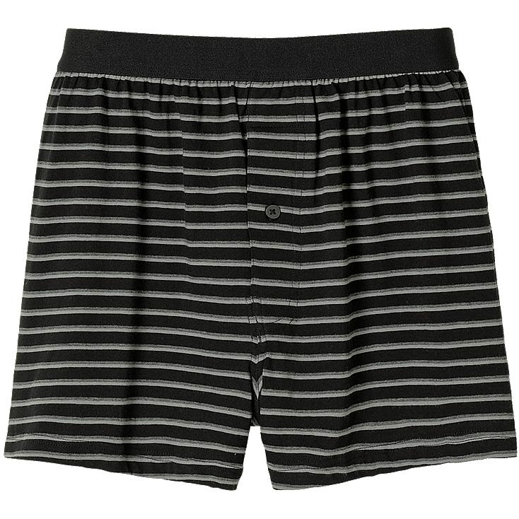 MEN KNIT STRIPE BOXER TRUNKS
