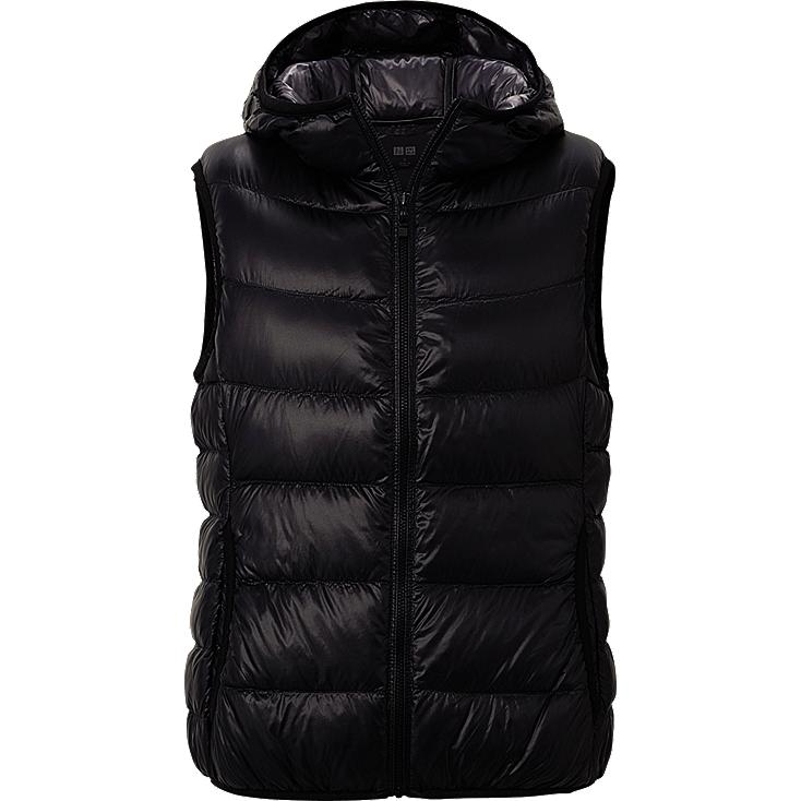 WOMEN ULTRA LIGHT DOWN HOODED VEST
