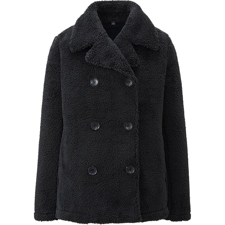 WOMEN FAUX SHEARLING FLEECE PEA COAT | UNIQLO