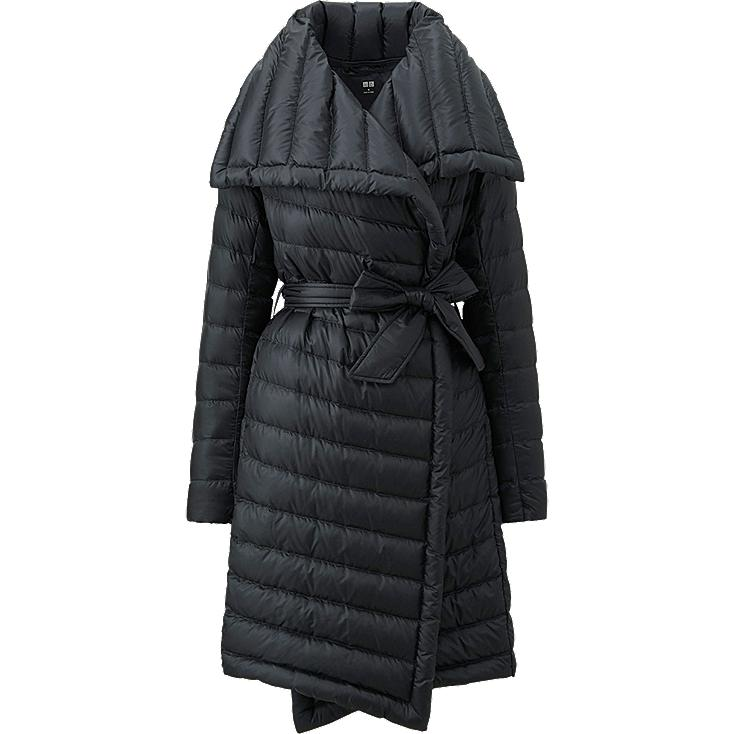 WOMEN ULTRA LIGHT DOWN WRAP COAT