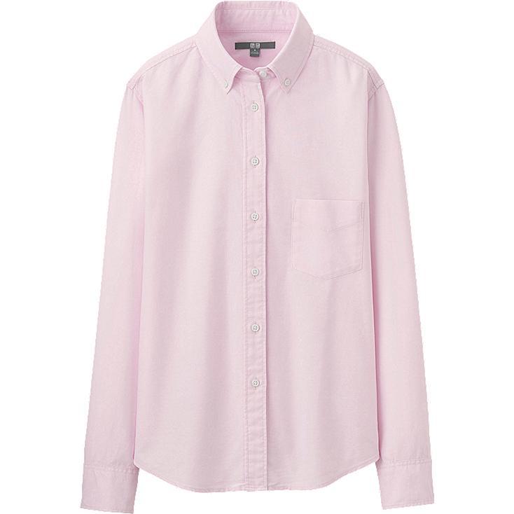 Pink Oxford Shirt Womens Women Oxford Long Sleeve Shirt