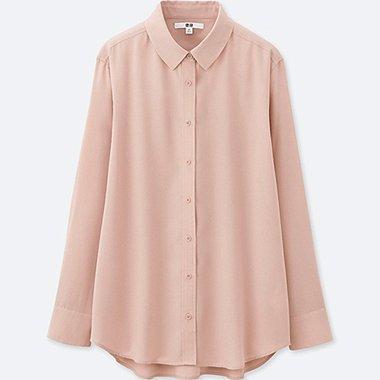 DAMEN Easy Care Bluse Aus Silk Touch