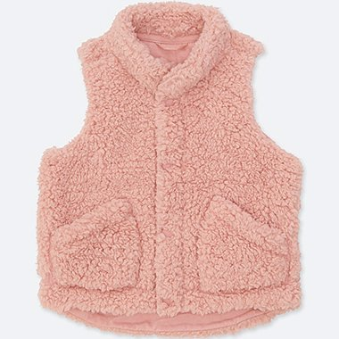 Toddler Fluffy Yarn Fleece Vest Uniqlo Us