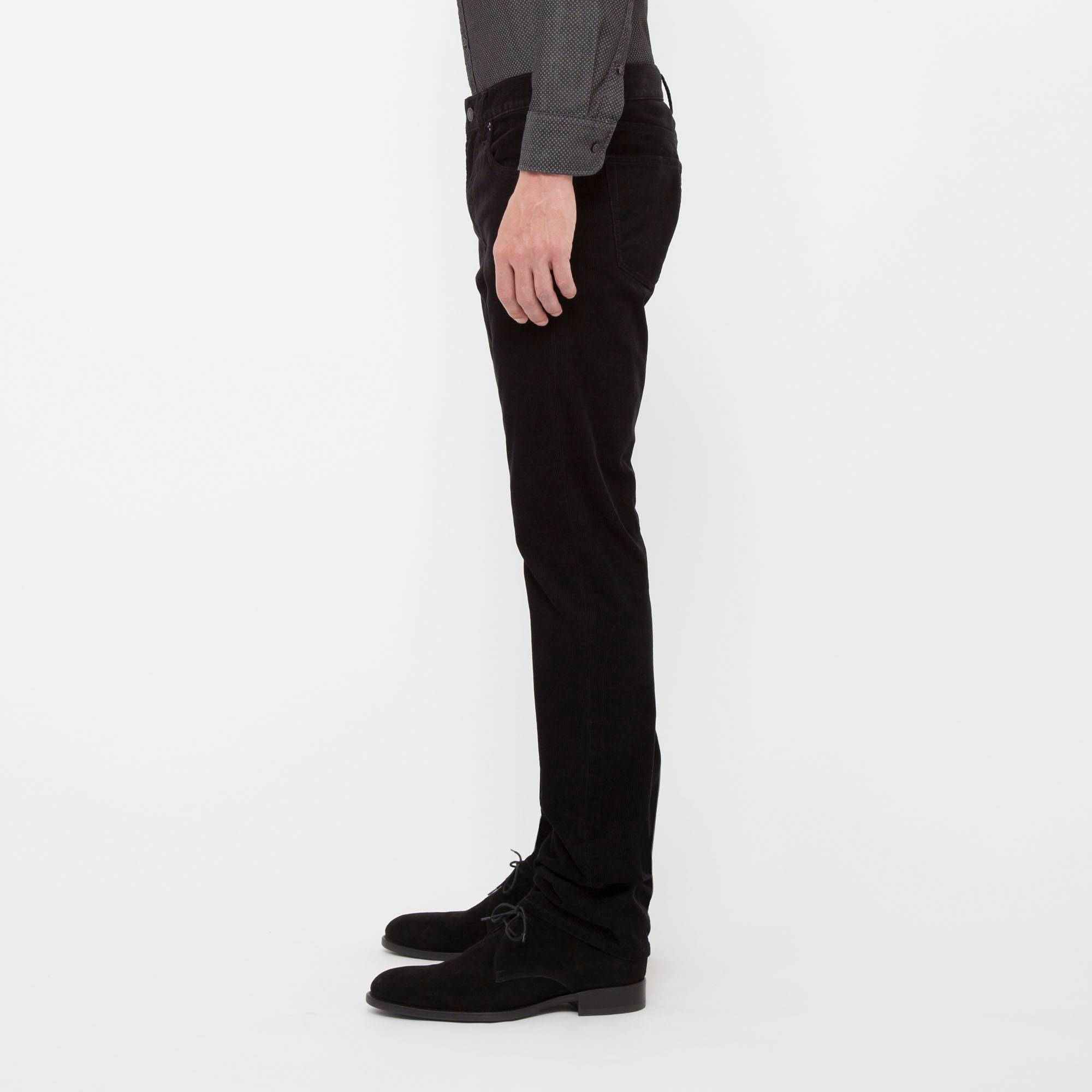 black skinny corduroy pants - Pi Pants