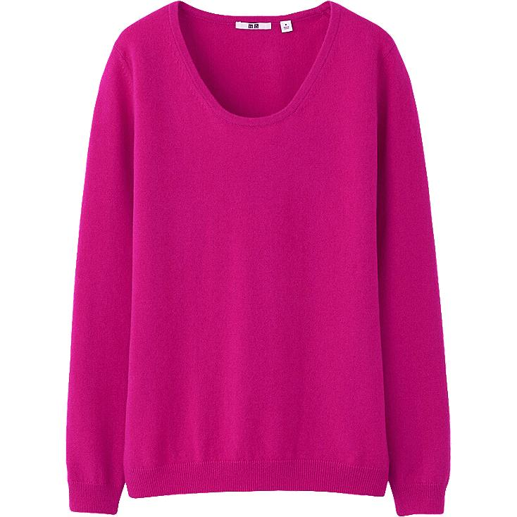 WOMEN CASHMERE ROUND NECK SWEATER