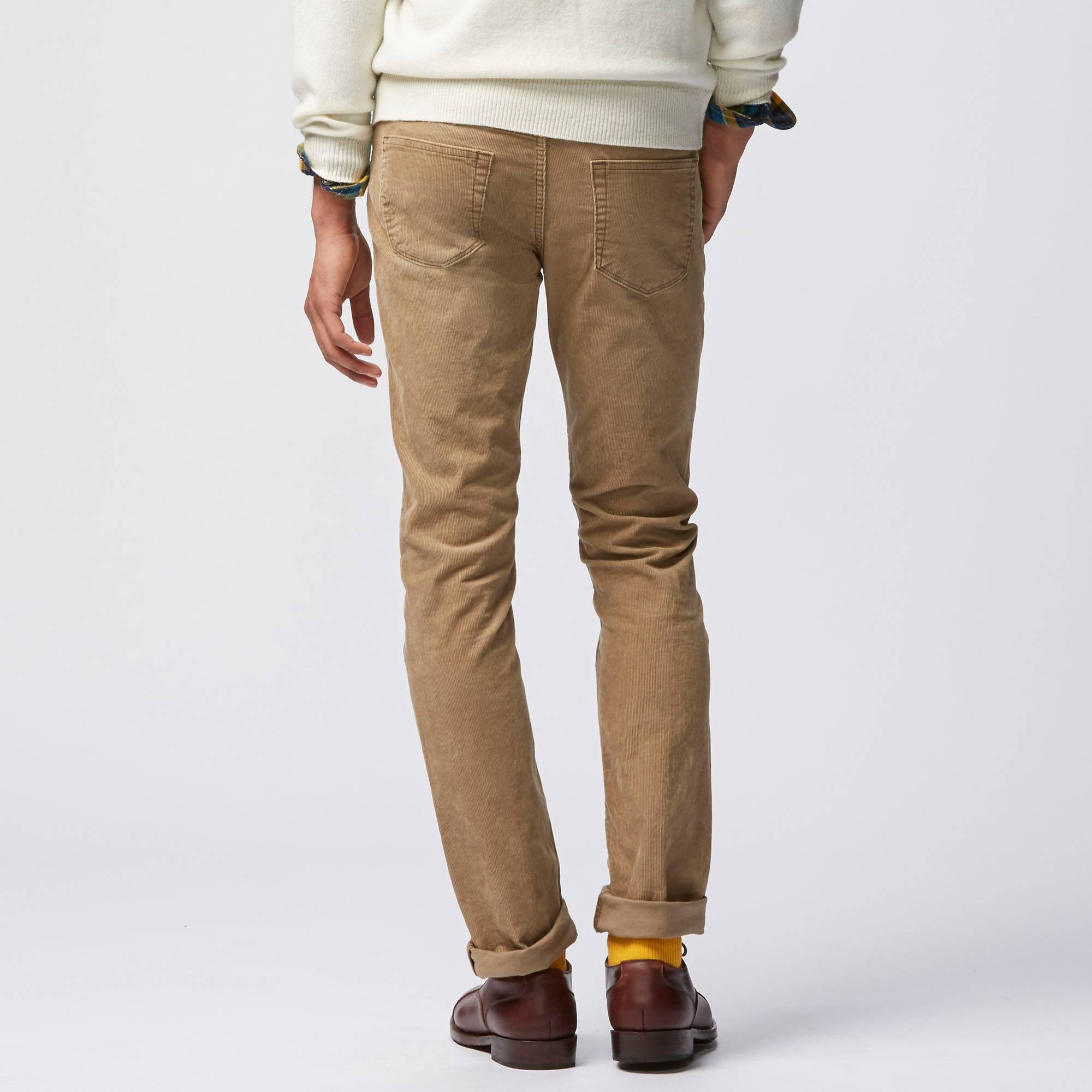 Mens Slim Corduroy Pants