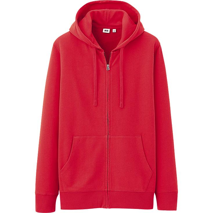 MEN LIGHT SWEAT FULL ZIP HOODIE