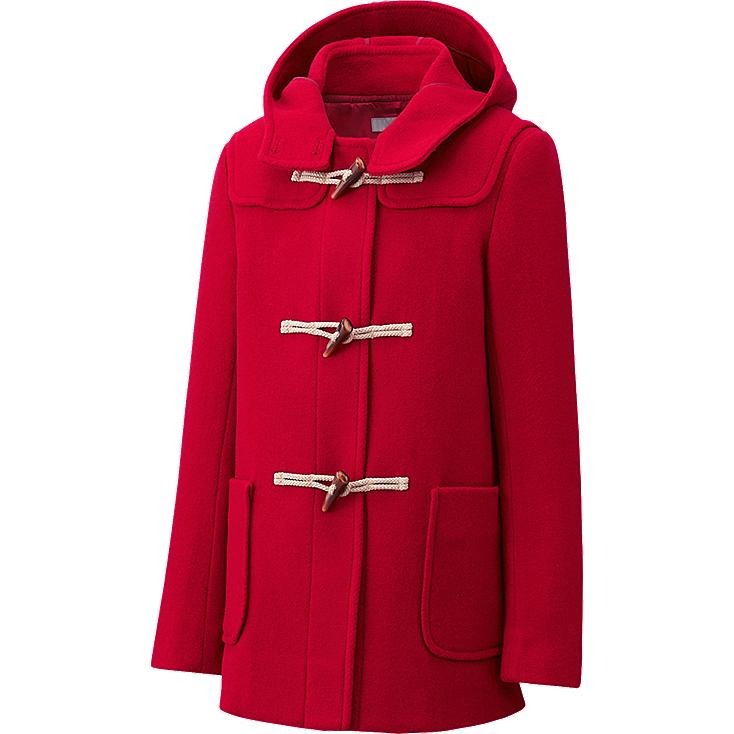 WOMEN WOOL BLENDED DUFFLE COAT