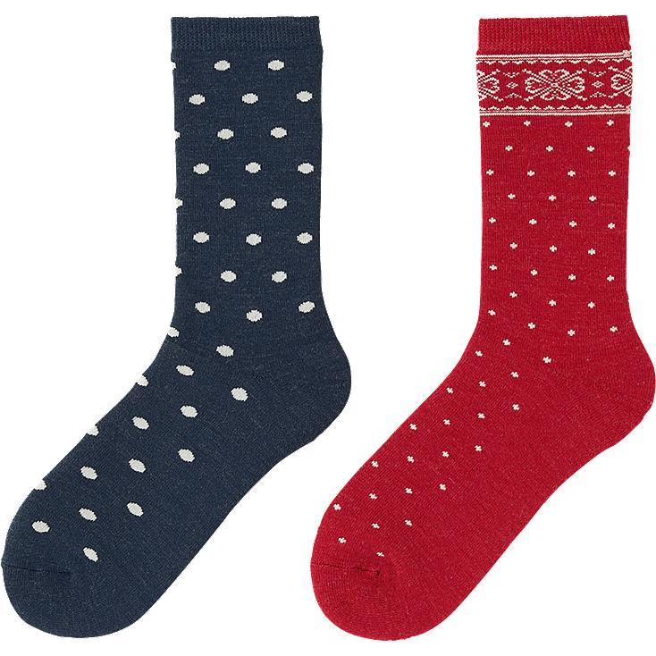 Uniqlo Heattech Socks Women Heattech Socks 2p Snow