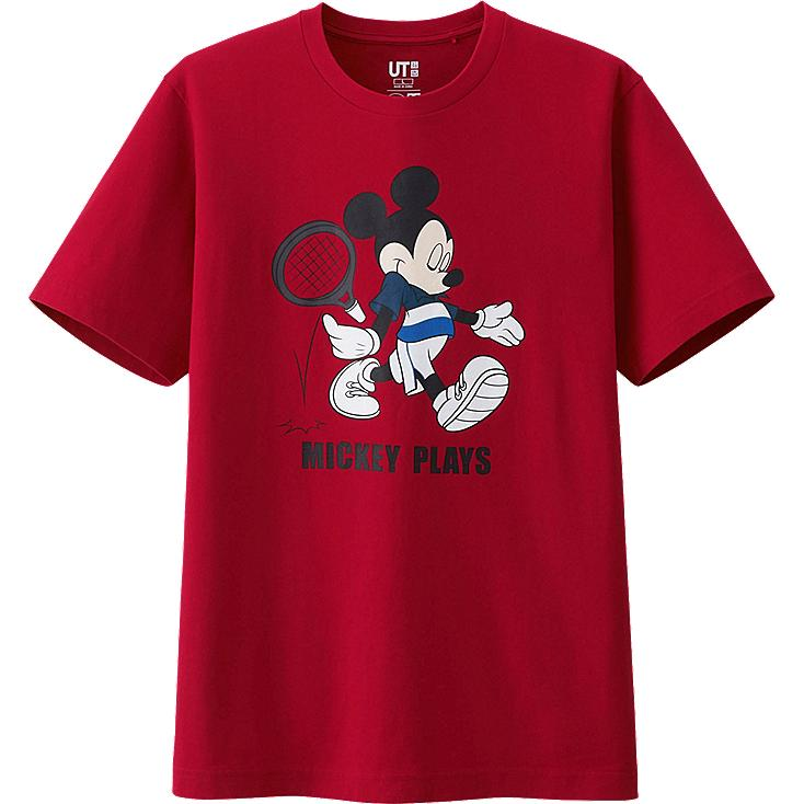 t shirt mickey plays homme uniqlo. Black Bedroom Furniture Sets. Home Design Ideas