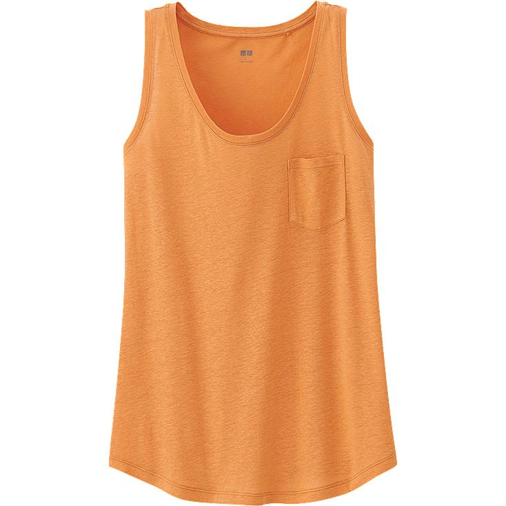 WOMEN LINEN BLENDED TANK TOP