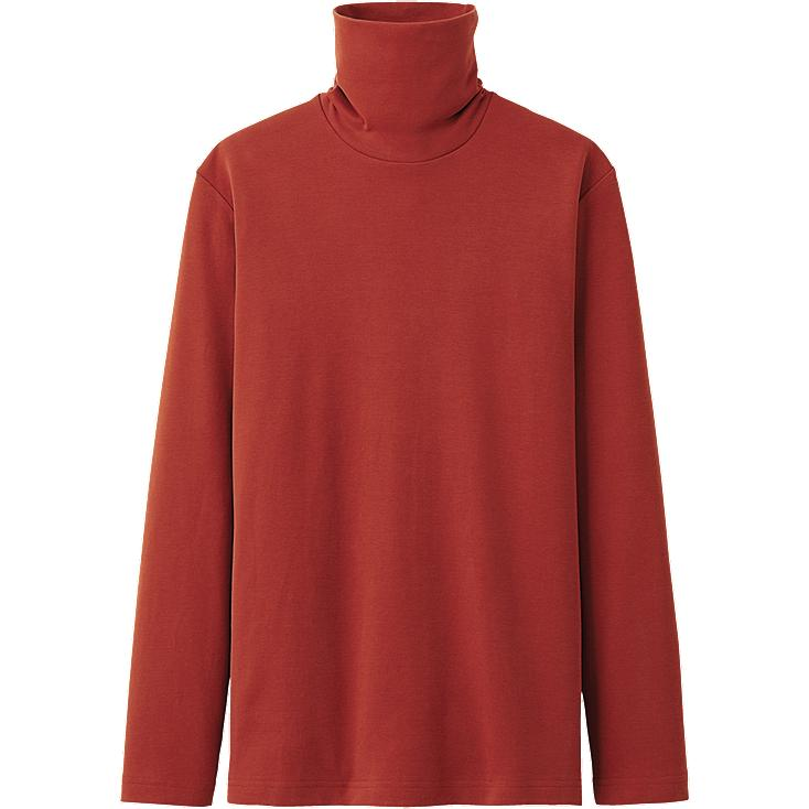 MEN SOFT-TOUCH TURTLE NECK LONG SLEEVE T SHIRT