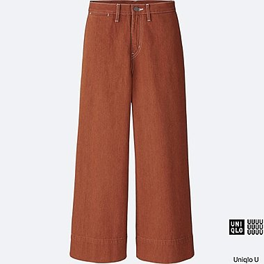 Pantalon large en denim U FEMME